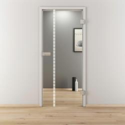 "Glasdrehtür ""NOVA 598"", klar, 70,9x197,2 cm, Rechts 70,9 cm | rechts"