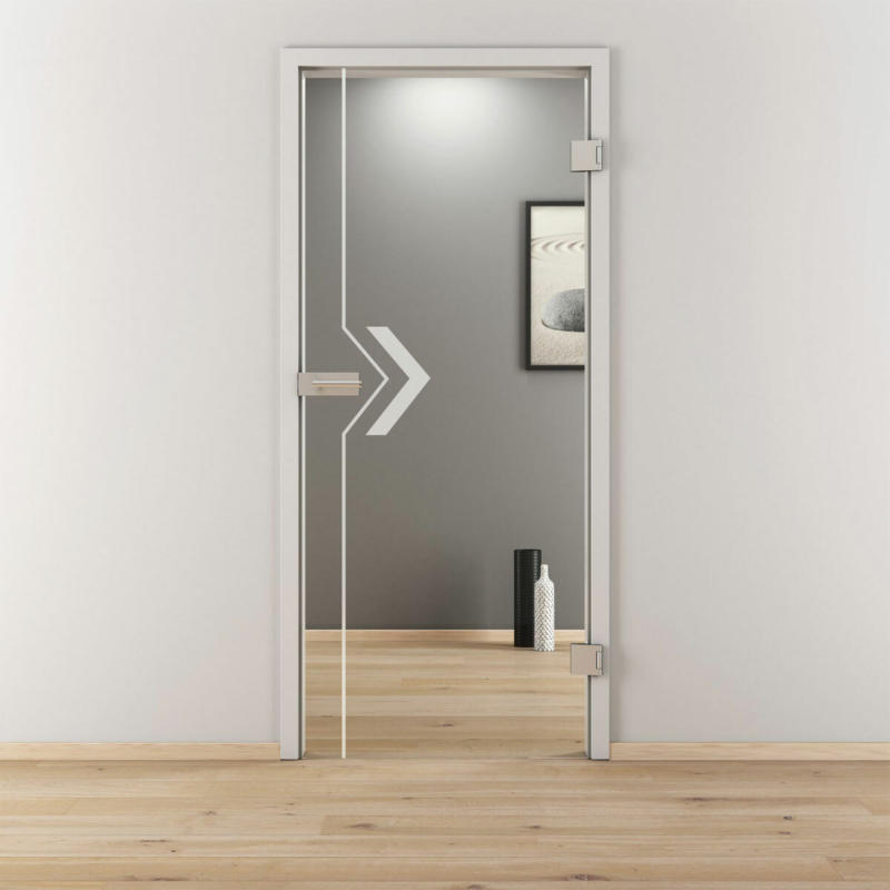 "Glasdrehtür ""NOVA 599"", klar, 83,4x197,2 cm, Rechts 83,4 cm | rechts"