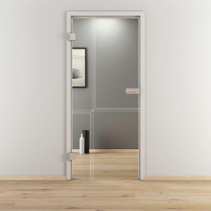 "Glasdrehtür ""NOVA 610"", klar, 70,9x197,2 cm, Links 70,9 cm | links"