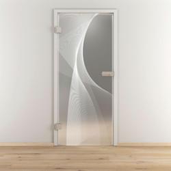 "Glasdrehtür ""NOVA 634"", mattiert, 70,9x197,2cm , Links 70,9 cm   links"