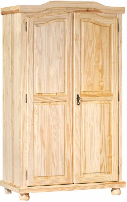 """Bauernschrank """"Genf"""", farblos, 2-trg., 104x180x56 cm Kein FSC Holz"""