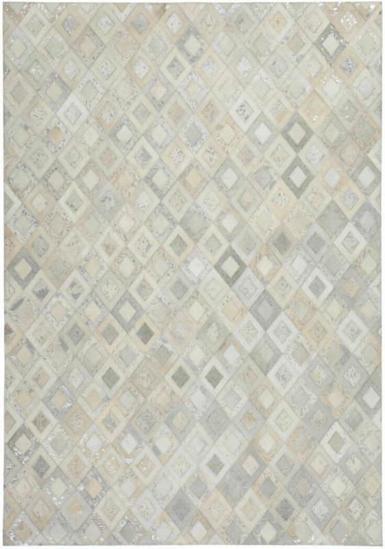 "Lederteppich ""Spark 110"", grau/silber 120x170 cm"
