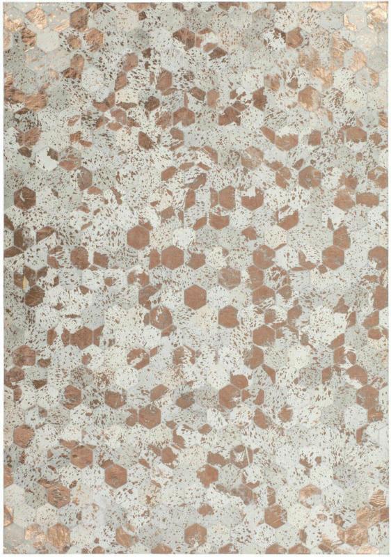 "Lederteppich ""Spark 210"", elfenbein/Chrom 80x150 cm"