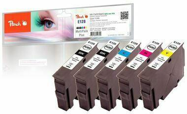 Peach Spar Pack Plus Tintenpatronen kompatibel zu Epson T128 (3xT1281, T1282, T1283, T1284)