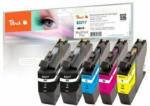 Die Post | La Poste | La Posta Peach Multipack Plus avec puce, compatible avec Brother LC-3217
