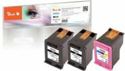 Peach Spar Pack Plus Druckköpfe kompatibel zu HP No. 302XL, F6U68A, F6U67A
