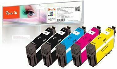 Peach Spar Pack Plus Tintenpatronen, kompatibel zu Epson No. 16