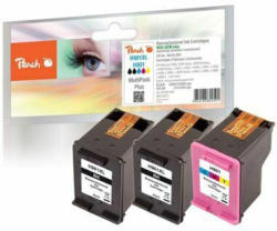 Peach Spar Pack Plus Druckköpfe kompatibel zu HP No. 901XL black, CC654AE,  No. 901 color, CC656AE