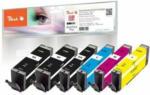 Die Post | La Poste | La Posta Peach Spar Pack Plus Tintenpatronen kompatibel zu Canon PGI-580, CLI-581