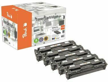 Peach Spar Pack Plus Tonermodule kompatibel zu HP No. 128A