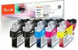 Peach Spar Plus Pack Tintenpatronen kompatibel zu Brother LC-3211
