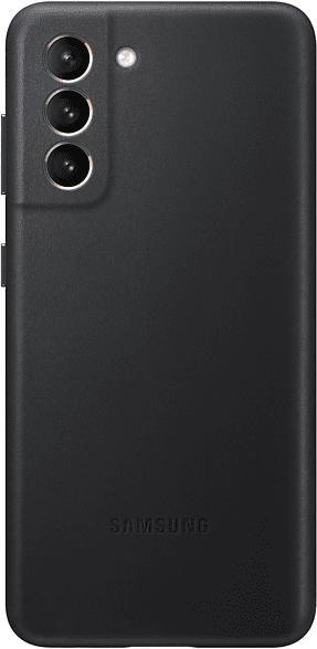 SAMSUNG EF-VG991 , Backcover, Samsung, Galaxy S21 5G, Echtleder, Microfaser, Schwarz