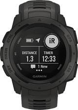 GARMIN Instinct - Montre GPS (Largeur : 22 mm, Silicone, Gris ardoise/Noir)