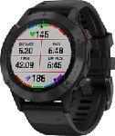 MediaMarkt GARMIN fēnix 6 Pro - GPS-Multisport-Smartwatch (Breite: 22 mm, Silikon, Schwarz)