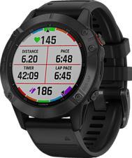 GARMIN fēnix 6 Pro - GPS-Multisport-Smartwatch (Breite: 22 mm, Silikon, Schwarz)