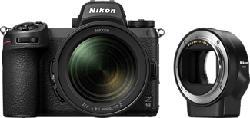 NIKON Z 6II Body + NIKKOR Z 24-70mm f/4 S + Adaptateur pour monture FTZ - Appareil photo à objectif interchangeable (Résolution photo effective: 24.5 MP) Noir
