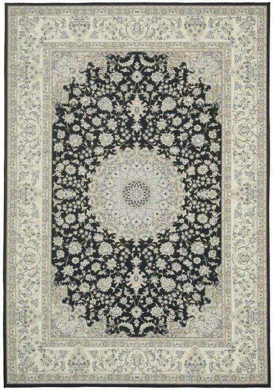 Orientalischer Webteppich Schwarz Nicoletta 120x170 cm