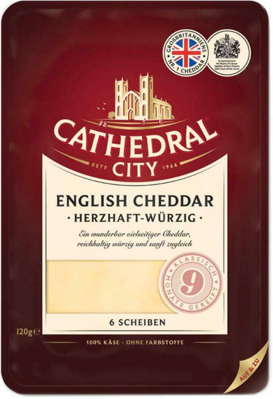 Cathedral City Cheddar Scheiben 9 Mon.