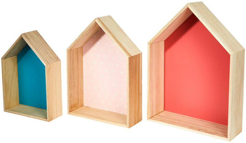 3 Wandregale in Haus-Optik (Nur online)