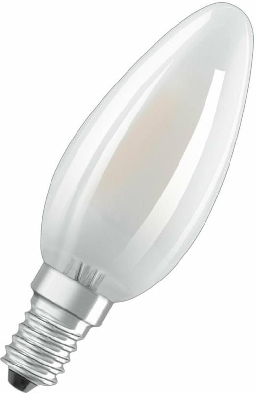 LED-Leuchtmittel, E14, kaltweiß, 40W, matt