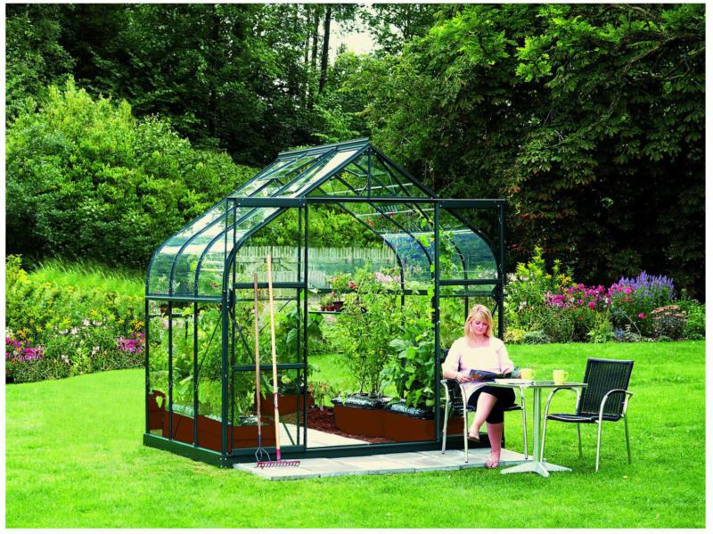"""Gewächshaus """"Dione 5000"""", 5m², 3mm, Einscheibensicherheitsglas, grün gruen   5 m²   Einscheibensicherheitsglas"""