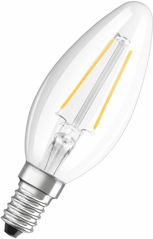 LED-Leuchtmittel, E14, kaltweiß, 25W, klar