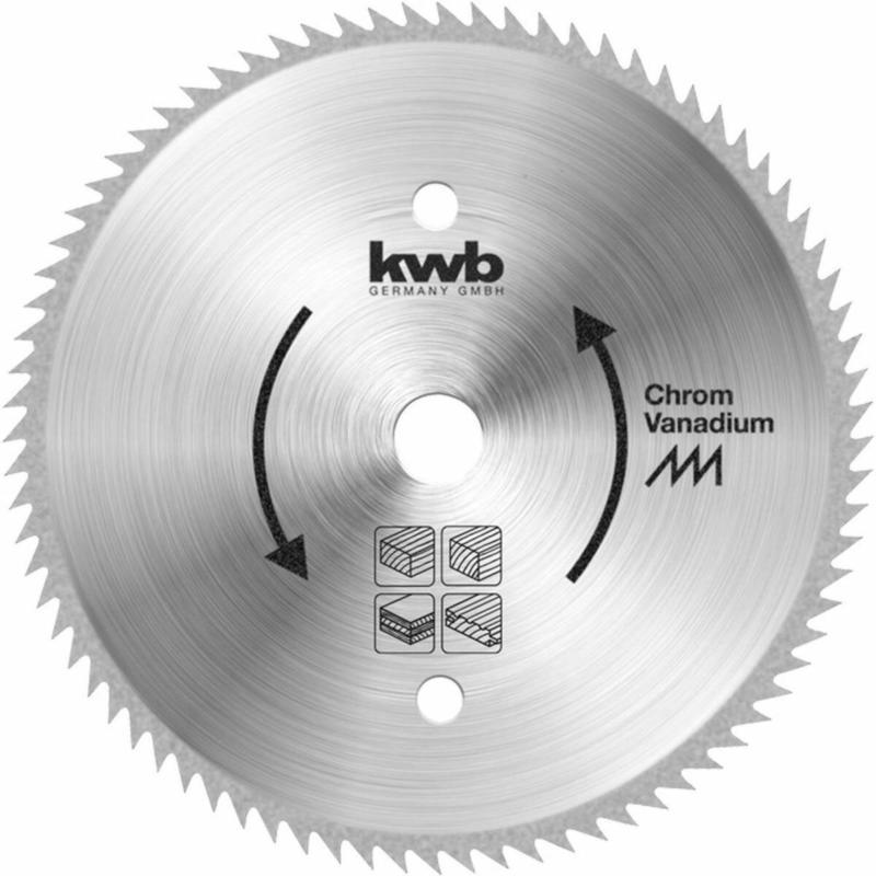 Kreissägeblatt CV-Stahl, 210x30 mm, 78B