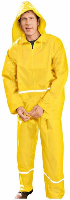 Regenjacke, mit Reflexstreifen, gelb, Gr.62/64 62/64