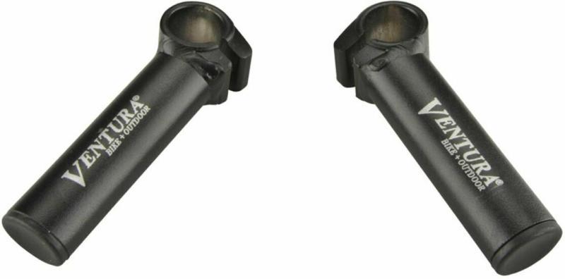 Lenker-Zusatzgriffe, außenbefestigung, schwarz, 2 Stück
