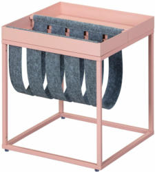 """Magazinständer """"Club NY"""", rosa-grau, 35x40x35 cm rosa, grau"""