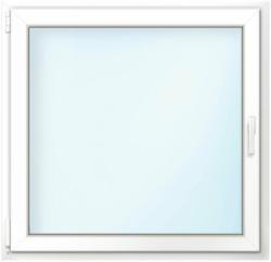 """Wärmeschutz-Fenster """"76/3"""", 100x100 cm, weiß, Anschlag links"""