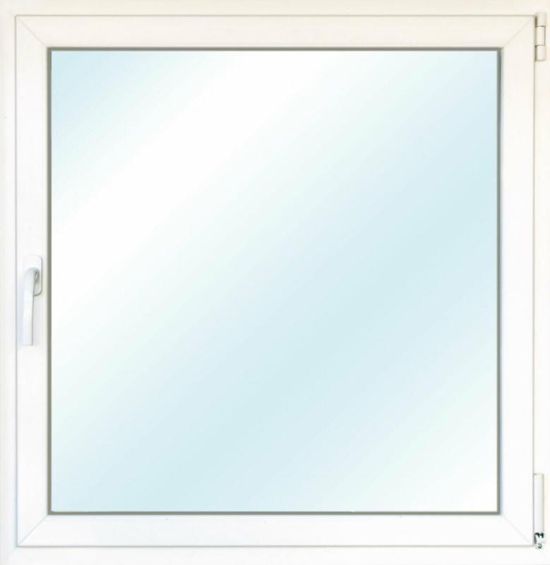 """Wärmeschutz-Fenster """"76/3"""", 100x100 cm, weiß, Anschlag rechts"""