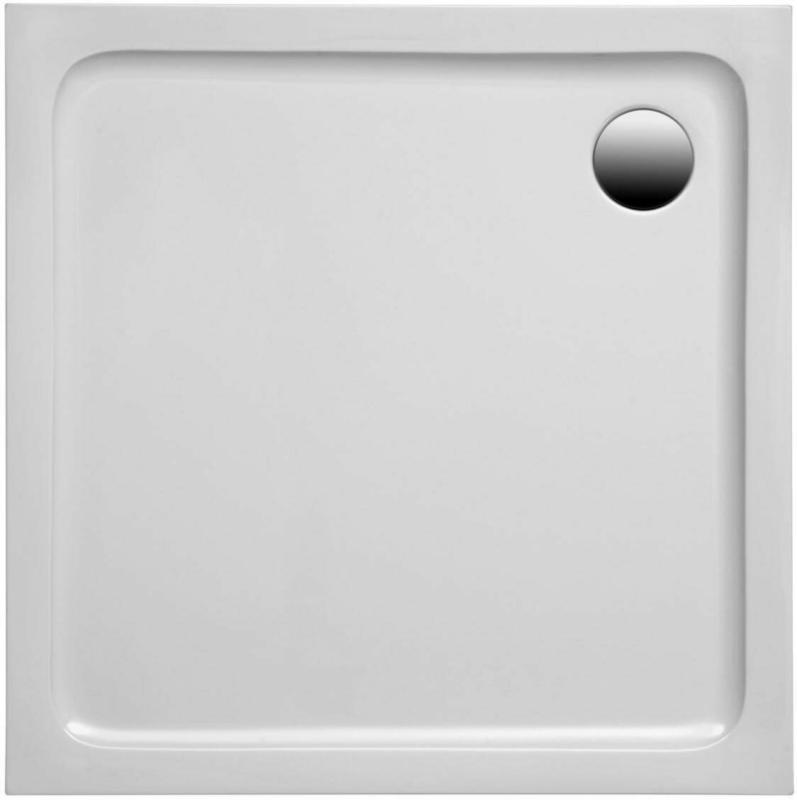 Quadratische Brausetasse, 90x90x3 cm, weiß