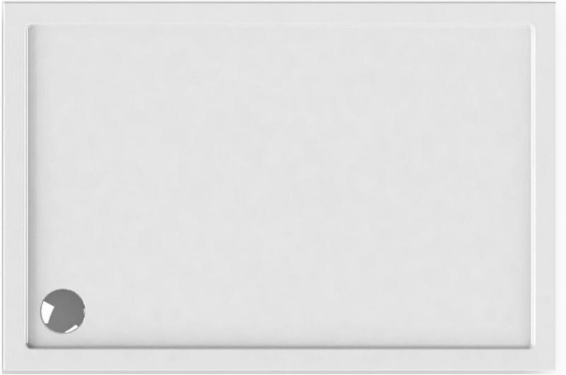 Duschwanne, rechteckig, 75x90 cm, weiß
