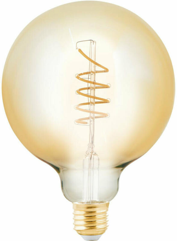 LED-Leuchtmittel, E27, G125, 4W, amber 4 W | G125 | amber