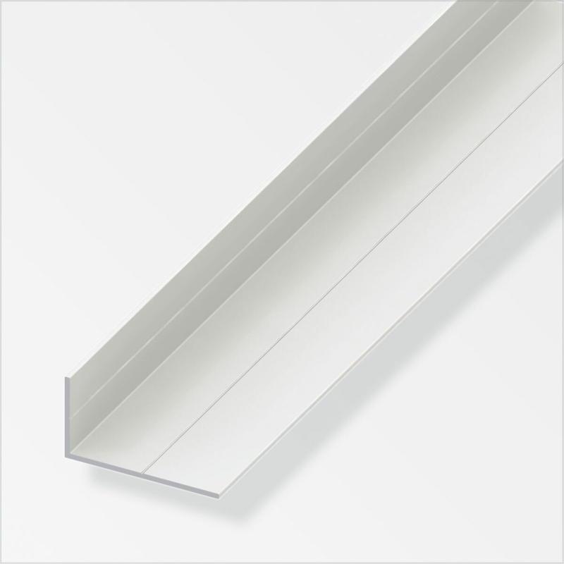Winkel, 23,5x43,5mm, 1m, ungleichschenklig, weiß