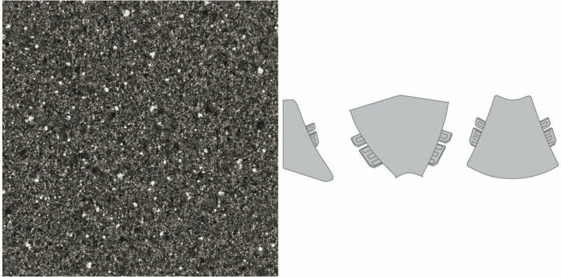 """Plus Außenecke """"stein schwarz-weiß"""""""