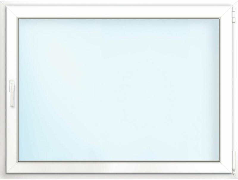 """Wärmeschutz-Fenster """"76/3"""", 100x75 cm, weiß, Anschlag rechts"""
