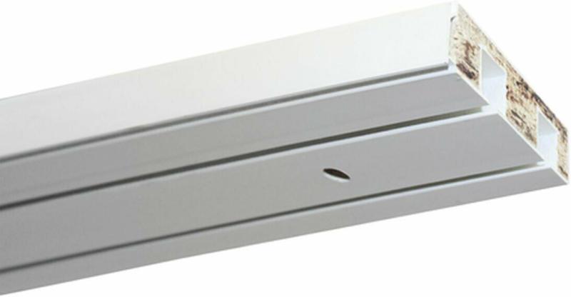 Vorhangschiene GE2 180 cm, mit Profil für Blendenbefestigung, weiß