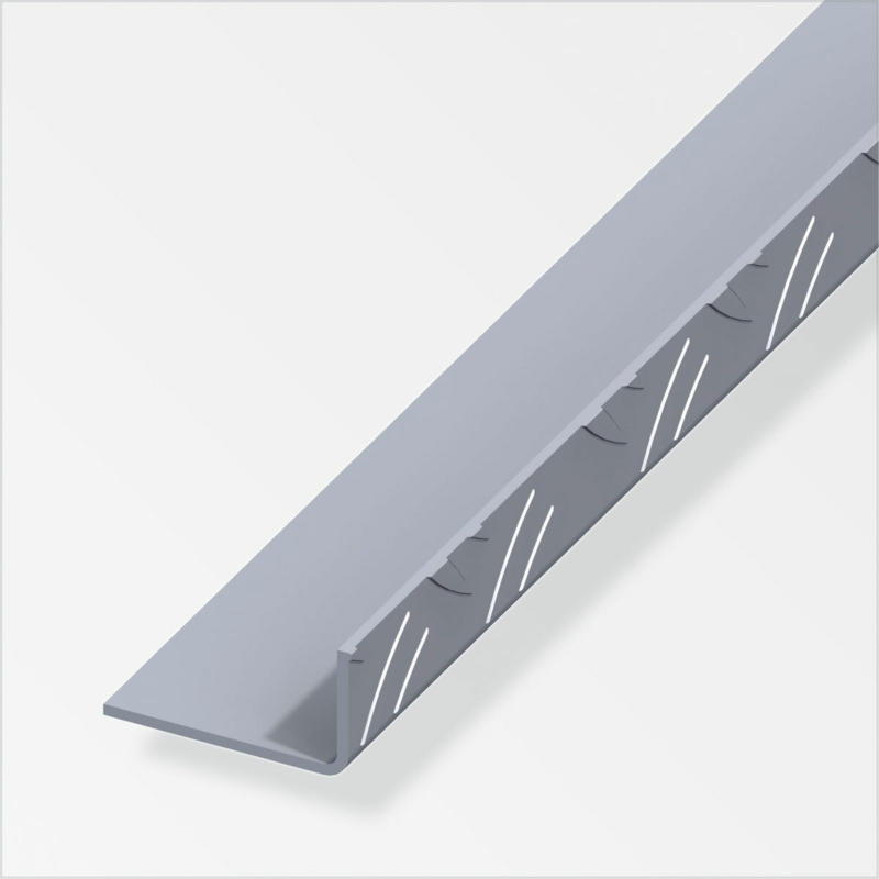 Riffelblechwinkel, 23,5x43,5mm, 1m, blank