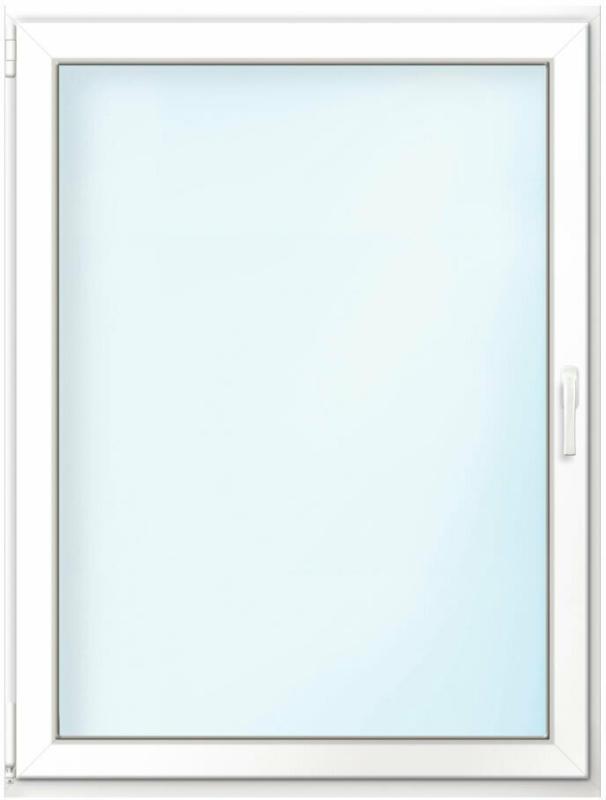 """Wärmeschutz-Fenster """"76/3"""", 90x100 cm, weiß, Anschlag links"""