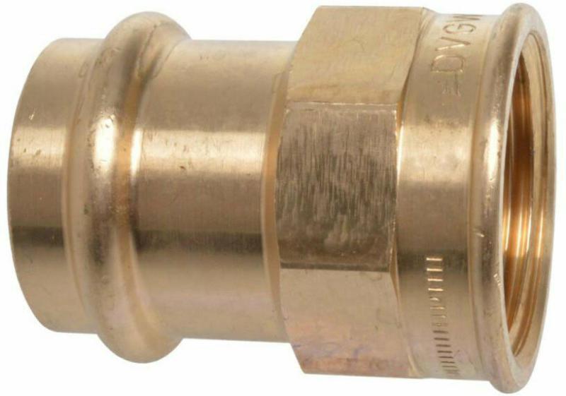 Übergangsstück, Pressfitting für Kupfer, 18 mmx3/4IG, V-Kontur, 1 St. 18 mm | 3/4 | 1