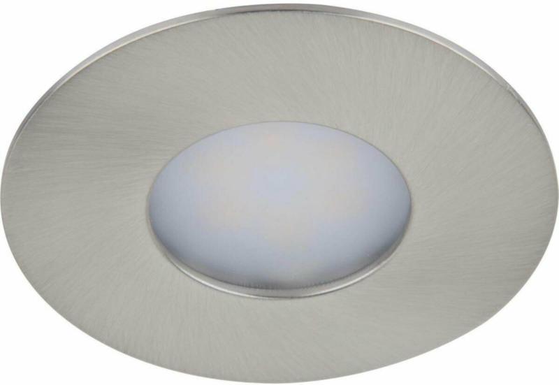 LED-Einbauleuchten-Set, rund, dimmbar, satin, 2,3 Watt, 3er-Set
