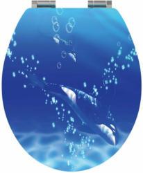 WC-Sitz, 3D-Orca-Dekor