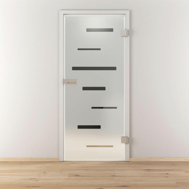 "Glasdrehtür ""NOVA 511"", mattiert, 83,4x197,2x8 cm 83,4 cm | rechts"