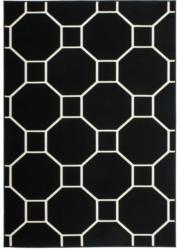 """Kurzflorteppich """"Lina 100"""" Schwarz/Elfenbein, 80x150cm 80x150 cm"""