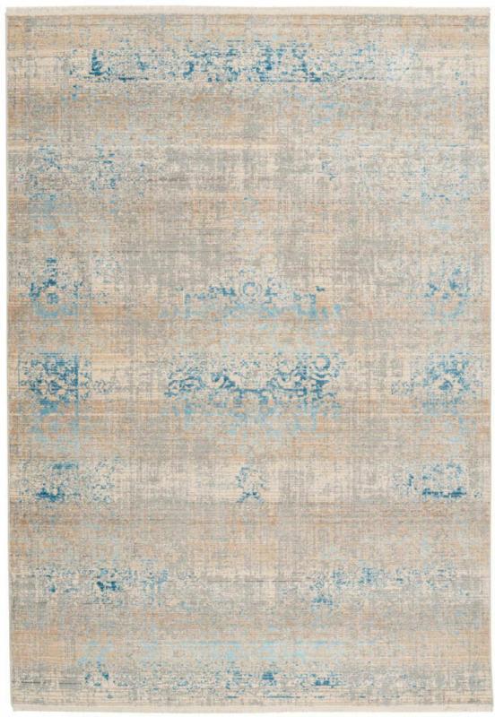 "Fransenteppich ""Baroque 300"", grau/türkis 200x290 cm"