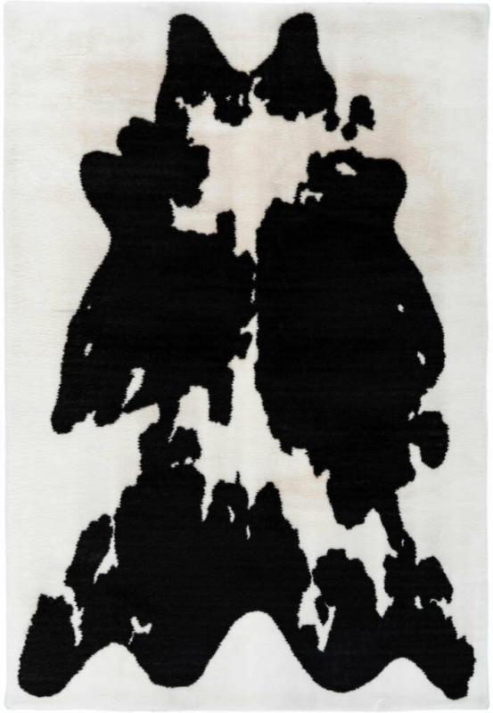 """Hochflorteppich """"Rabbit Animal 500"""", schwarz/weiß 120x160 cm"""