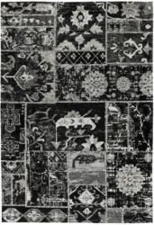 "Flachflorteppich ""River 150"", grau/schwarz 155x230 cm"