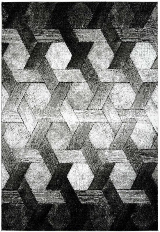 """Kurzflorteppich """"Dominica - Tanetane"""", silber 80x150 cm"""